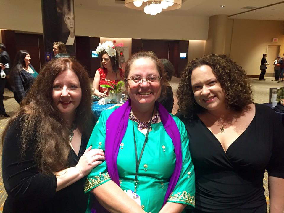 Meeting Patricia Briggs with Grace Draven at RT2015. I was totally cool about it. (I was completely uncool about it.)